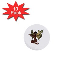 Faerie Nymph Fairy With Outreaching Hands 1  Mini Button (10 Pack) by goldenjackal