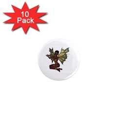 Faerie Nymph Fairy With Outreaching Hands 1  Mini Button Magnet (10 Pack) by goldenjackal