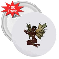 Faerie Nymph Fairy With Outreaching Hands 3  Button (100 Pack) by goldenjackal