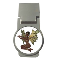 Faerie Nymph Fairy With Outreaching Hands Money Clip (round) by goldenjackal
