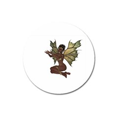 Faerie Nymph Fairy With Outreaching Hands Magnet 3  (round) by goldenjackal