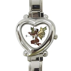 Faerie Nymph Fairy With Outreaching Hands Heart Italian Charm Watch  by goldenjackal