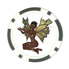 Faerie Nymph Fairy With Outreaching Hands Poker Chip by goldenjackal