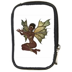 Faerie Nymph Fairy With Outreaching Hands Compact Camera Leather Case by goldenjackal