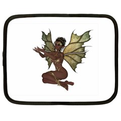 Faerie Nymph Fairy With Outreaching Hands Netbook Sleeve (xxl) by goldenjackal