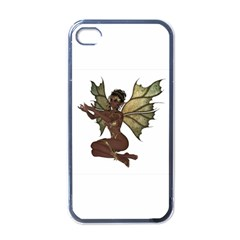 Faerie Nymph Fairy With Outreaching Hands Apple Iphone 4 Case (black) by goldenjackal