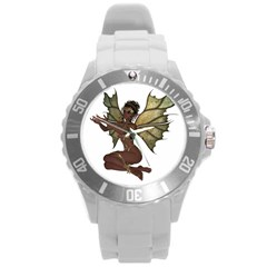 Faerie Nymph Fairy With Outreaching Hands Plastic Sport Watch (large) by goldenjackal
