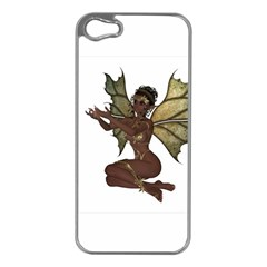 Faerie Nymph Fairy With Outreaching Hands Apple Iphone 5 Case (silver) by goldenjackal