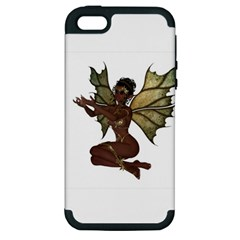 Faerie Nymph Fairy With Outreaching Hands Apple Iphone 5 Hardshell Case (pc+silicone) by goldenjackal