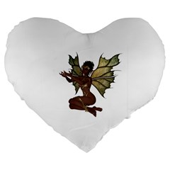 Faerie Nymph Fairy With Outreaching Hands 19  Premium Heart Shape Cushion by goldenjackal