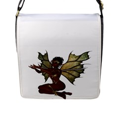 Faerie Nymph Fairy With Outreaching Hands Flap Closure Messenger Bag (large) by goldenjackal