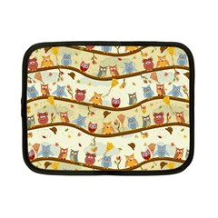 Autumn Owls Netbook Sleeve (small) by Ancello