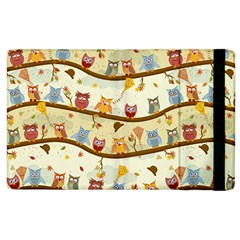 Autumn Owls Apple Ipad 3/4 Flip Case by Ancello