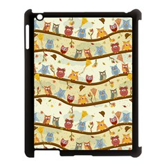 Autumn Owls Apple Ipad 3/4 Case (black) by Ancello