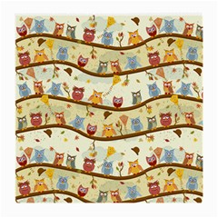Autumn Owls Glasses Cloth (medium, Two Sided) by Ancello