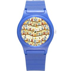 Autumn Owls Plastic Sport Watch (small) by Ancello