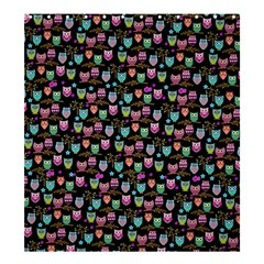 Funky Owls Shower Curtain 66  X 72  (large) by Ancello