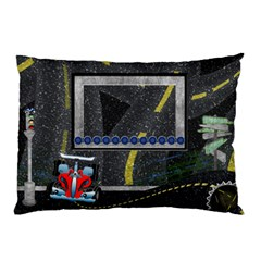 Roadtrip Pillow By Cherish Collages   Pillow Case (two Sides)   7p2c5oyxdpl1   Www Artscow Com Front