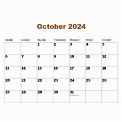 Male Calendar No 1 (any Year) By Deborah   Wall Calendar 11  X 8 5  (12 Months)   Paopvvken10h   Www Artscow Com Oct 2016