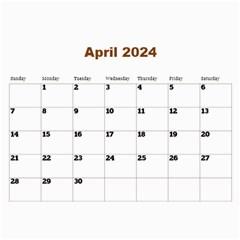Male Calendar No 1 (any Year) By Deborah   Wall Calendar 11  X 8 5  (12 Months)   Paopvvken10h   Www Artscow Com Apr 2016