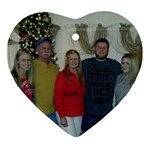 The Kromenacker Family - Heart Ornament (Two Sides)