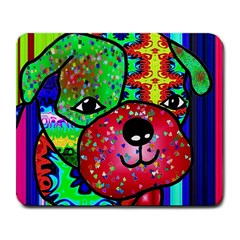 Pug Large Mouse Pad (Rectangle) by Siebenhuehner