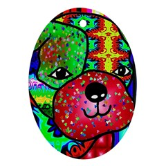 Pug Oval Ornament (two Sides) by Siebenhuehner