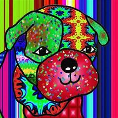 Pug Canvas 12  X 12  (unframed) by Siebenhuehner