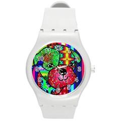 Pug Plastic Sport Watch (medium) by Siebenhuehner