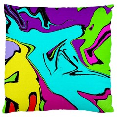 Abstract Large Cushion Case (single Sided)  by Siebenhuehner