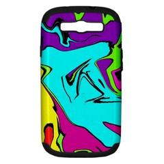 Abstract Samsung Galaxy S Iii Hardshell Case (pc+silicone) by Siebenhuehner