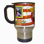 orange mug - Travel Mug (White)