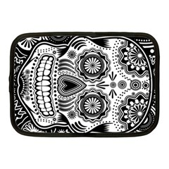 Sugar Skull Netbook Sleeve (medium) by Ancello