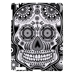 Sugar Skull Apple Ipad 3/4 Hardshell Case by Ancello