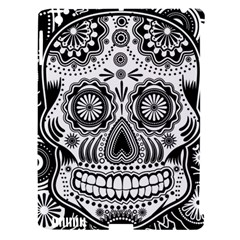 Sugar Skull Apple Ipad 3/4 Hardshell Case (compatible With Smart Cover) by Ancello
