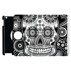 Sugar Skull Apple Ipad 3/4 Flip 360 Case by Ancello
