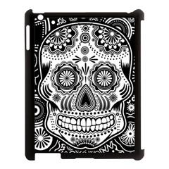 Sugar Skull Apple Ipad 3/4 Case (black) by Ancello