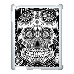 Sugar Skull Apple Ipad 3/4 Case (white) by Ancello