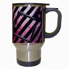 Punk Girl Mug By Angeye   Travel Mug (white)   Xnre8x1jv430   Www Artscow Com Right