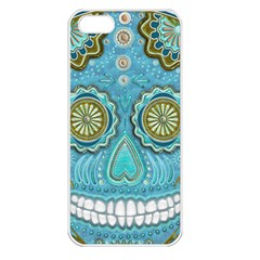 Skull Apple Iphone 5 Seamless Case (white) by Ancello