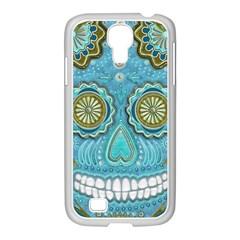 Skull Samsung Galaxy S4 I9500/ I9505 Case (white) by Ancello