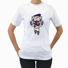 Stylish Monster  Womens  T-shirt (White) by Contest1741741