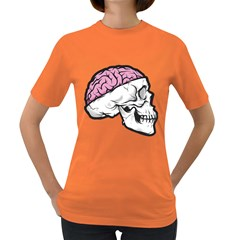 Skull & Brain Womens' T Shirt (colored) by Contest1741741