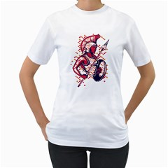 Spartan Warrior! Womens  T-shirt (White) by Contest1800973