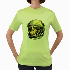 SpaceMonkey Womens  T-shirt (Green) by Contest1814230