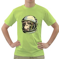 SpaceMonkey Mens  T-shirt (Green) by Contest1814230