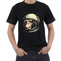 SpaceMonkey Mens' Two Sided T-shirt (Black) by Contest1814230