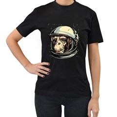 SpaceMonkey Womens' Two Sided T-shirt (Black) by Contest1814230