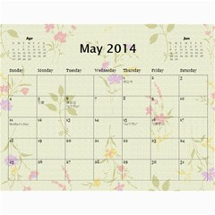 1 15 By Zhansey   Wall Calendar 11  X 8 5  (18 Months)   Iopzvru14o7q   Www Artscow Com May 2014
