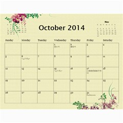 1 15 By Zhansey   Wall Calendar 11  X 8 5  (18 Months)   Iopzvru14o7q   Www Artscow Com Oct 2014